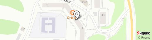Магазин по продаже овощей и фруктов на карте Мурманска