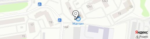Яблочко на карте Мурманска