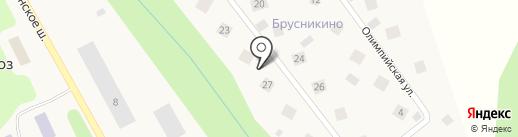 Брусникино на карте Зверосовхоза