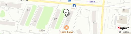 Берегиня на карте Мурманска