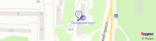 Полярный круг на карте Мурманска