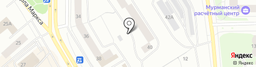 RECORD Murmansk, FM 102.0 на карте Мурманска