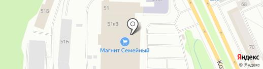 Магазин товаров для праздничного оформления на карте Мурманска