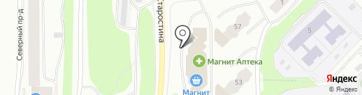 Дятьково на карте Мурманска