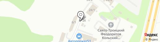 Магазин пиломатериалов на карте Мурманска