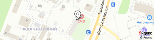 CMD на карте Мурманска