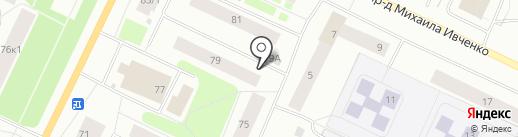 Продовольственный магазин на карте Мурманска