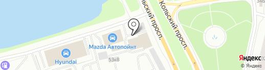 Омега Моторс на карте Мурманска