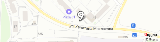 Магазин строительных материалов на карте Мурманска