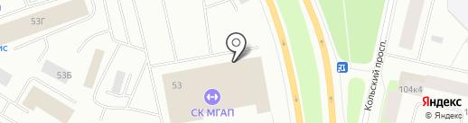 Автомойка грузового и легкового транспорта на карте Мурманска