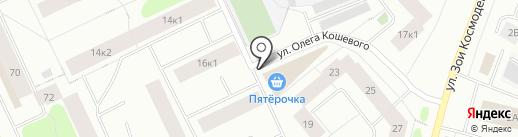 Магазин женского трикотажа на карте Мурманска
