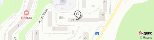 Маклакова 21, ТСЖ на карте Мурманска