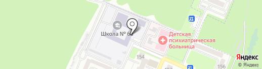 Средняя общеобразовательная школа №63 на карте Брянска