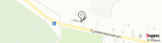 Сулажгорское кладбище на карте Петрозаводска