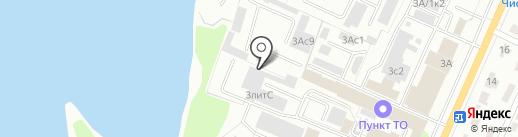 Магазин строительных материалов на карте Брянска