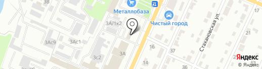 Кирпичный Двор на карте Брянска