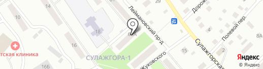 Молодежный клуб в Сулажгоре на карте Петрозаводска