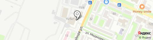 Автошкола №1 на карте Брянска