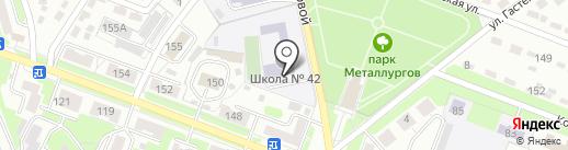 Средняя общеобразовательная школа №42 на карте Брянска