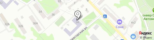 Средняя общеобразовательная школа №12 на карте Петрозаводска