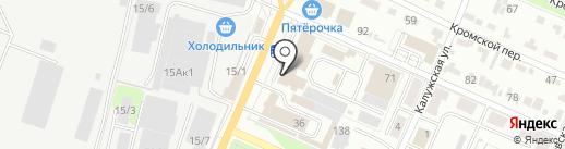 Вершина-Брянск на карте Брянска