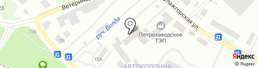 Карьер-сервис на карте Петрозаводска