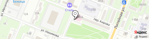 Детская поликлиника №3 на карте Брянска
