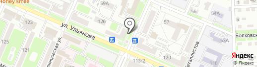 Метелица на карте Брянска