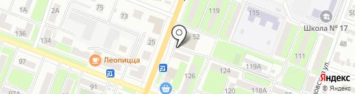 Киоск фастфудной продукции на карте Брянска