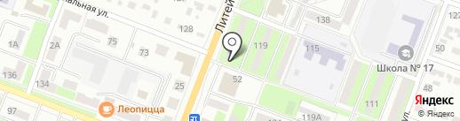 Кубера на карте Брянска