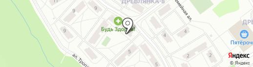 Соседушка на карте Петрозаводска