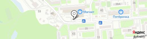 Автостоянка на карте Брянска