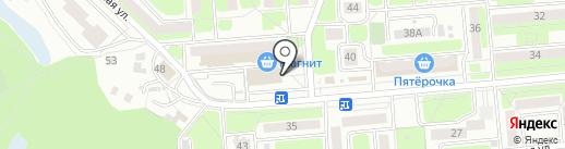 Радуга на карте Брянска