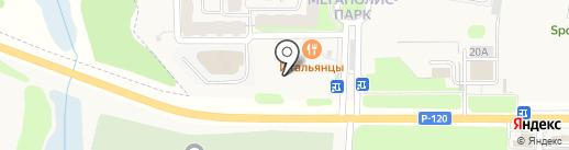 Мегаполис-парк на карте Путевки