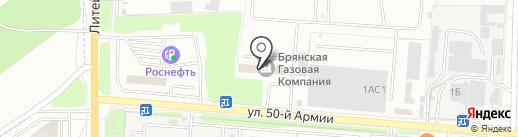 Брянская транспортная компания на карте Брянска