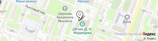 Музей героя Советского Союза им. Д.Н. Медведева на карте Брянска