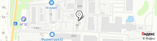 Литейная 88 на карте Брянска
