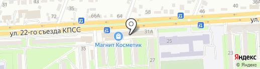 Модная цирюльня на карте Брянска