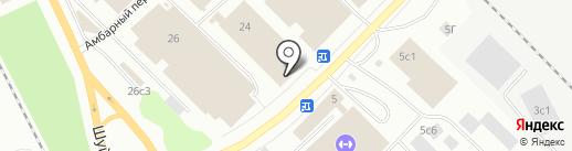 Магазин кожгалантереи на карте Петрозаводска