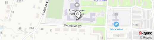 Снежская гимназия, МБОУ на карте Путевки