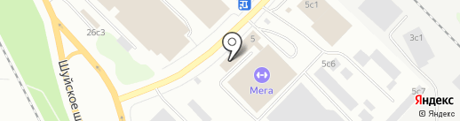 Магазин чулочно-носочных и трикотажных изделий на карте Петрозаводска