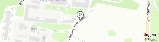 Динамо на карте Петрозаводска