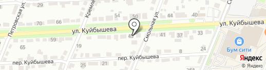 Лестница на карте Брянска