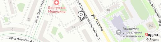 Студия макияжа Ирины Кирюткиной на карте Петрозаводска