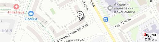 ВЫРАСТАЙКА на карте Петрозаводска