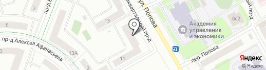 Академика на карте Петрозаводска