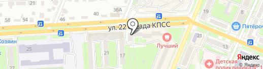 Родной край на карте Брянска