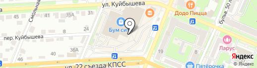 Ногтики на карте Брянска