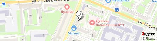 Комод на карте Брянска
