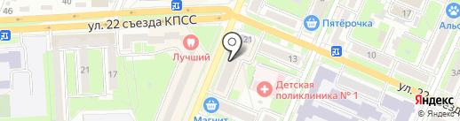 Тюлевый салон на карте Брянска